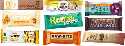 Energy bars måltidsbarer utan socker ekologiska