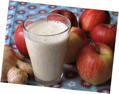 Smoothie med kvarg, äpple och ingefära