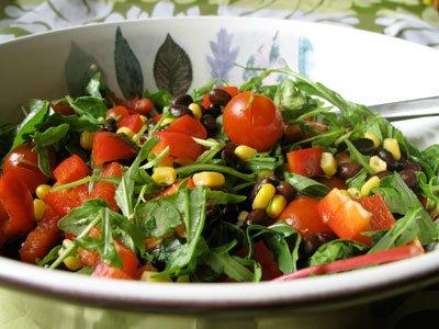 Svartbönsallad - sallad med svarta bönor